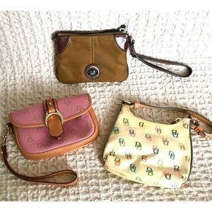 Dooney Bourke Bundle Of 3 wallets wristlets